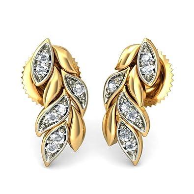 3dd738fa7 Buy BlueStone 18K Yellow Gold Diamond Stud Earrings Online at Low ...