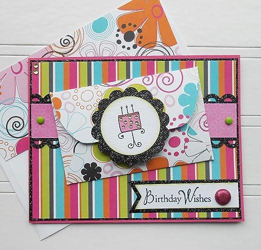 Amazon Birthday Gift Card Holder Sparkle Cake Handmade