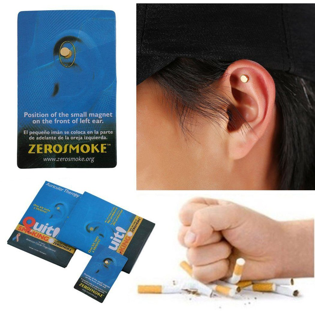 Quit Smoking Ear Magnet Cigarettes Magnetic Ear Acupressure Zero Stop Smoke by MYEDO (Image #4)