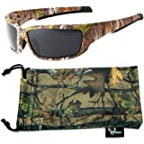 Hornz Brown Forest Camouflage Polarized Sunglasses for Men Full Frame Strong Arms & Free Matching Microfiber Pouch