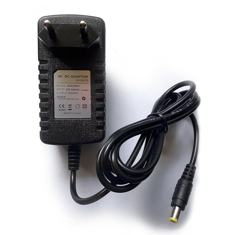 Presa Italiana MyVolts Alimentatore//Caricabatteria da 12V Compatibile con Tastiera Casio CDP-130