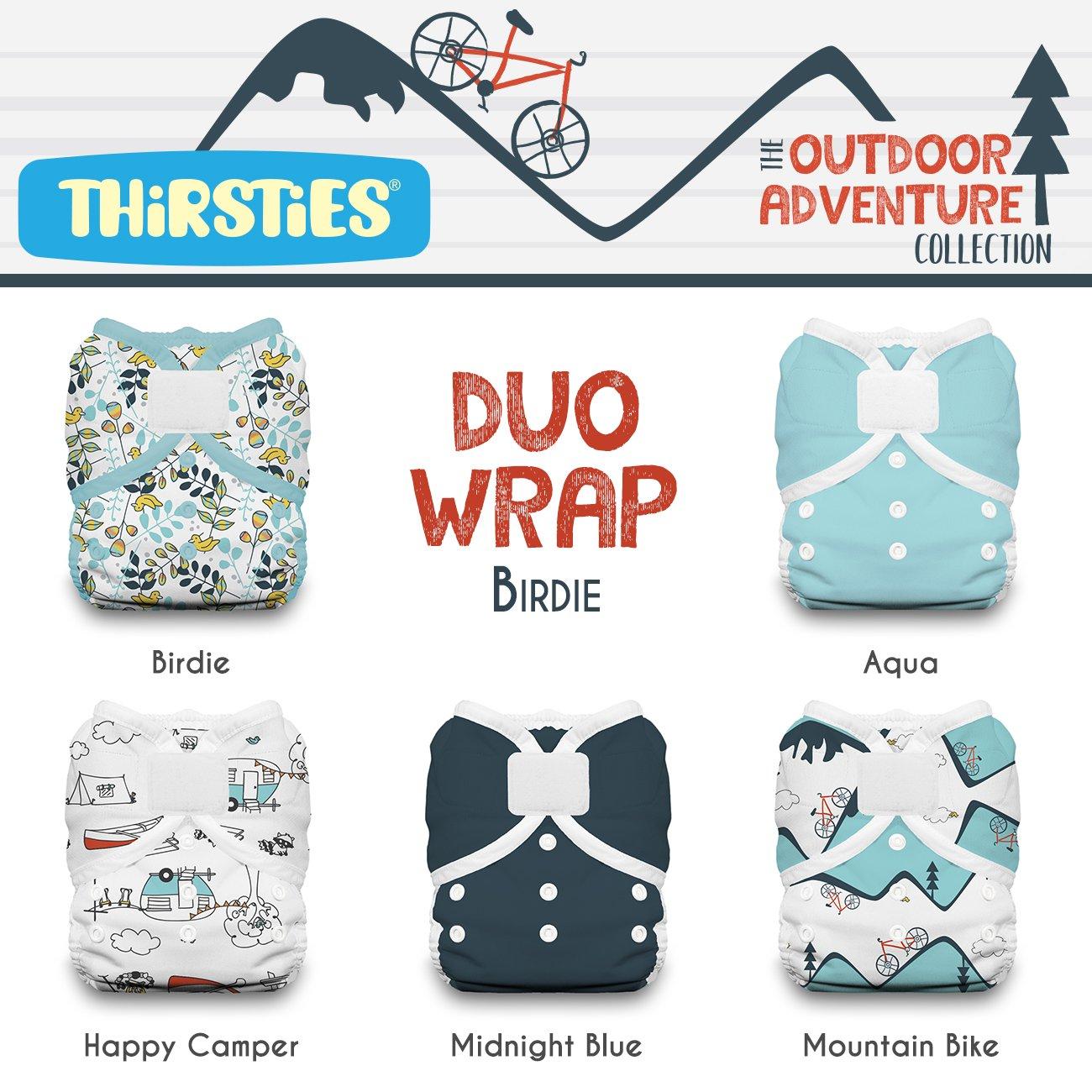 Thirsties Package, Duo Wrap Hook & Loop, Outdoor Adventure Collection Birdie Size 1