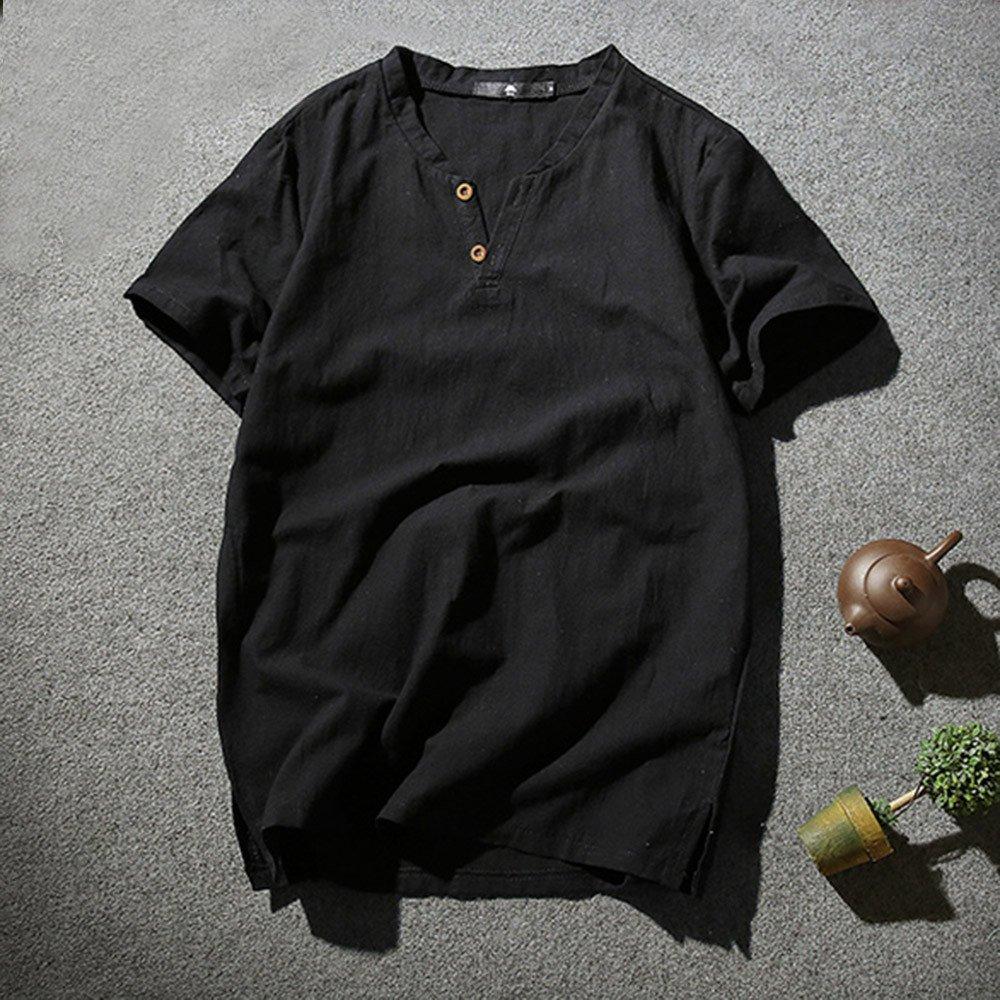 Camicie e T-Shirt Sportive da Uomo,Top e Bluse da Uomo,YanHoo Moda Casuale Maniche Corta Girocollo T Shirt Magliette Camicetta Maglietta da Uomo Camicie da Uomini Tees Manica Lunga Tops