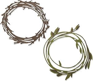 Sizzix Thinlits Die Set 10 Pack , Funky Wreaths by Tim Holtz Cutting dies, Multicolor