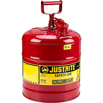 Safety Gas Can >> Amazon Com Justrite Type I Safety Can Five Gallon Gasoline