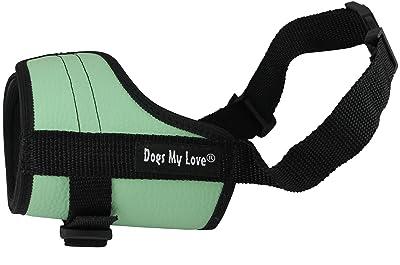 Adjustable Dog Muzzle 6 Sizes Green