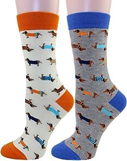 cfa336dcc7e58 Carahere Women's Cute Animal Pattern Novelty Fun Soft Cotton Crew Socks