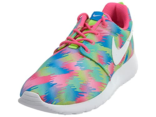 pretty nice 9b6f5 a769a Amazon.com   Nike Kid s Roshe One Print GS, PINK BLAST WHITE-ELCTRC GREEN,  Youth Size 6   Shoes