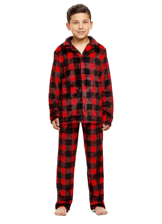 Long-Sleeve Button-Down Top /& PJ Pants Jellifish Kids Boys 2 Piece Pajama Set