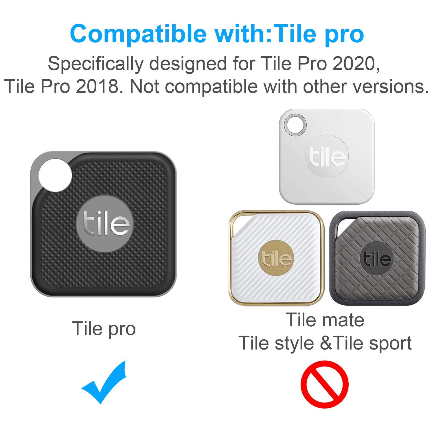 Silicone Case for Tile Pro 2020 /& 2018 2 Pack Cover Case Anti-Scratch Lightweight Soft Full Body Shock Protective Sleeve Ultra Slim Skin for Tile Pro Bluetooth Anti-Loss Device with Carabiner