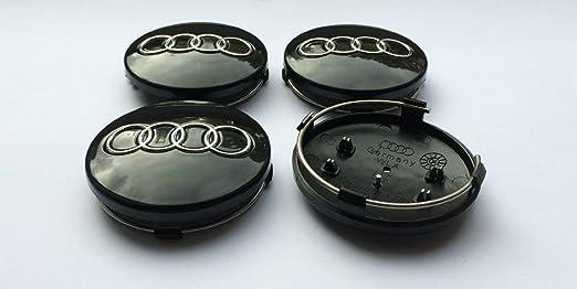 12 opinioni per Set of 4 BLACK AUDI 60mm Alloy Wheel Centre Caps