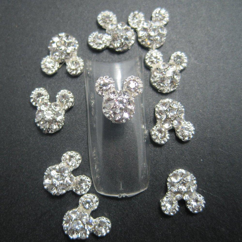 Amazon.com: EVERMARKET(TM) 10PCS Fashion Nail Art 3d Alloy ...
