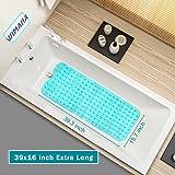 Wimaha XL Bathtub Mat, Bath Shower Mat Non Slip for Bathroom, Machine Washable, Ideal for Kids Toddler Senior, 39 x 16, Teal