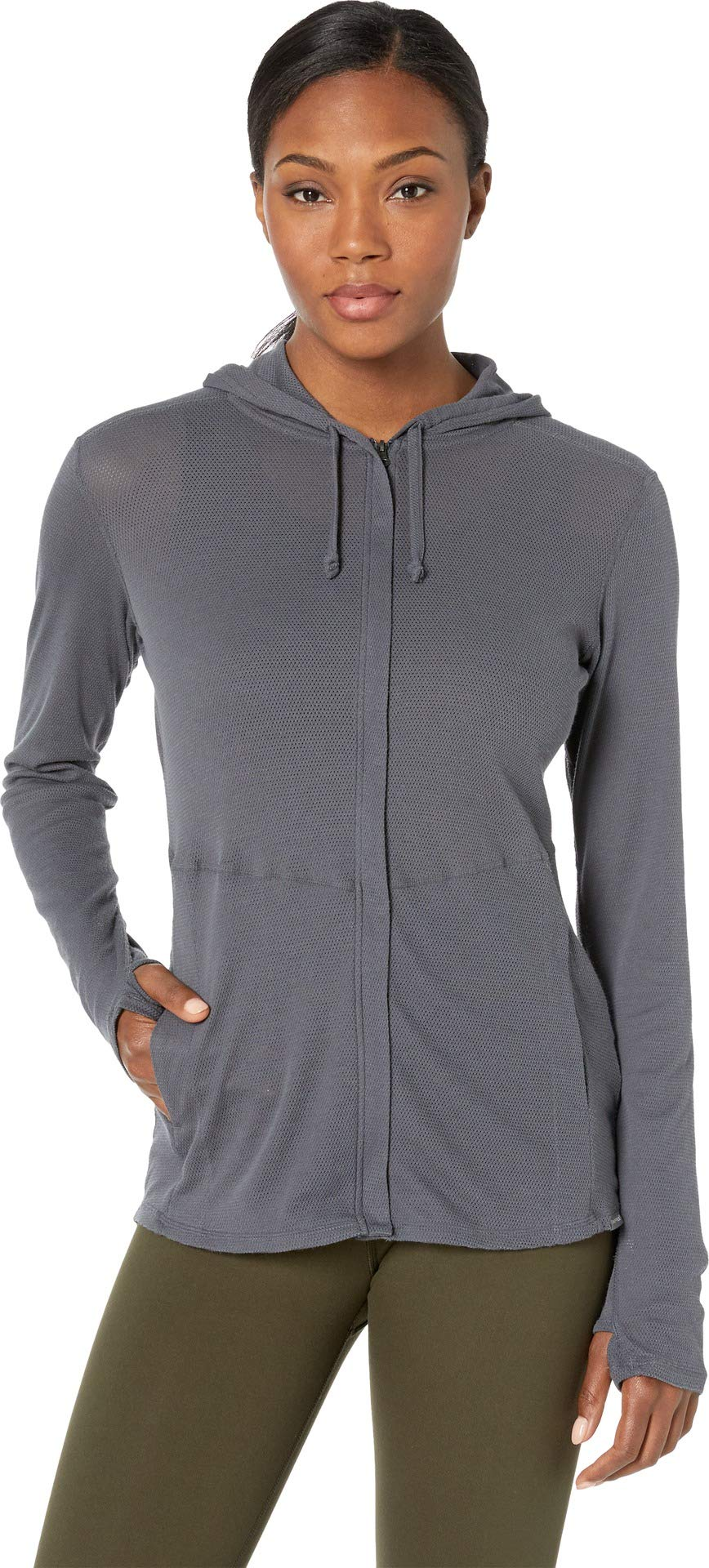 ExOfficio Women's BugsAway Lm Full Zip Hoody, Carbon, X-Large by ExOfficio