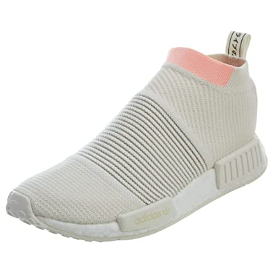 67d8cd34124c5 adidas Women s NMD CS1 PK Running White Clear Orange AQ1136 (Size  ...