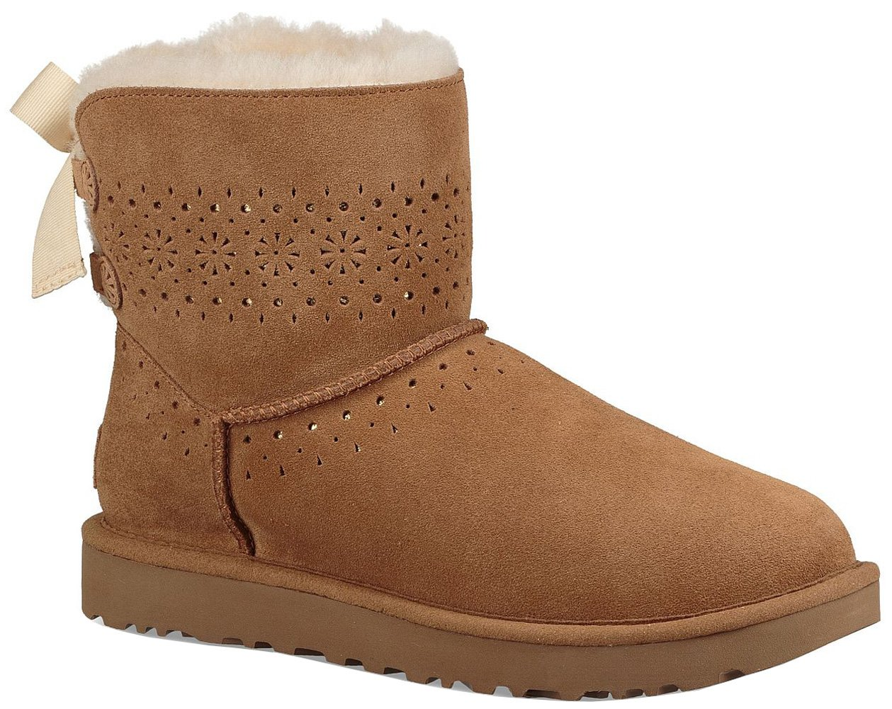 UGG Womens Dae Sunshine Perf Boot, Chestnut, Size 9