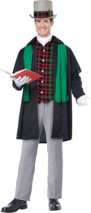 Victorian Men's Costumes: Mad Hatter, Rhet Butler, Willy Wonka California Costumes Holiday Caroler Man Costume $61.88 AT vintagedancer.com