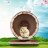 Bestmemories Wooden Exercise Wheel for Hamster