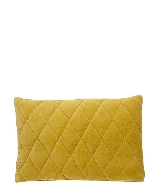 Funda de cojín 60 x 40 Velvet Quilt Bungalow, tela, amarillo ...