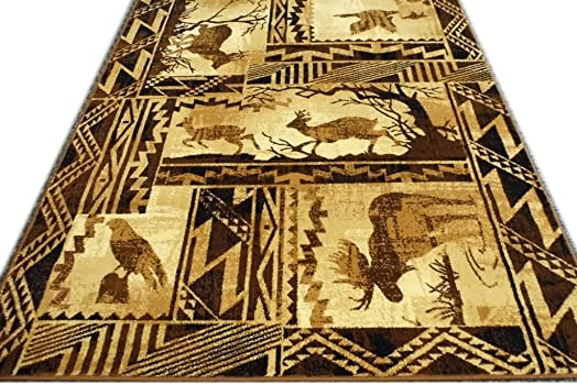 Western Area Rug Design Lodge 384 7 Feet 7 Inch X 10 Feet 6 Inch