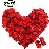 Newland 2000 Stück Rosenblätter Rosenblüten für Hochzeit Party und Romantische Atmosphäre (Rose Rot)