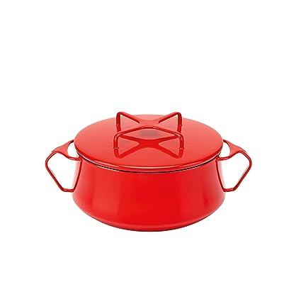 Amazoncom Dansk Kobenstyle Chili Red Casserole 2 Quart Dansk