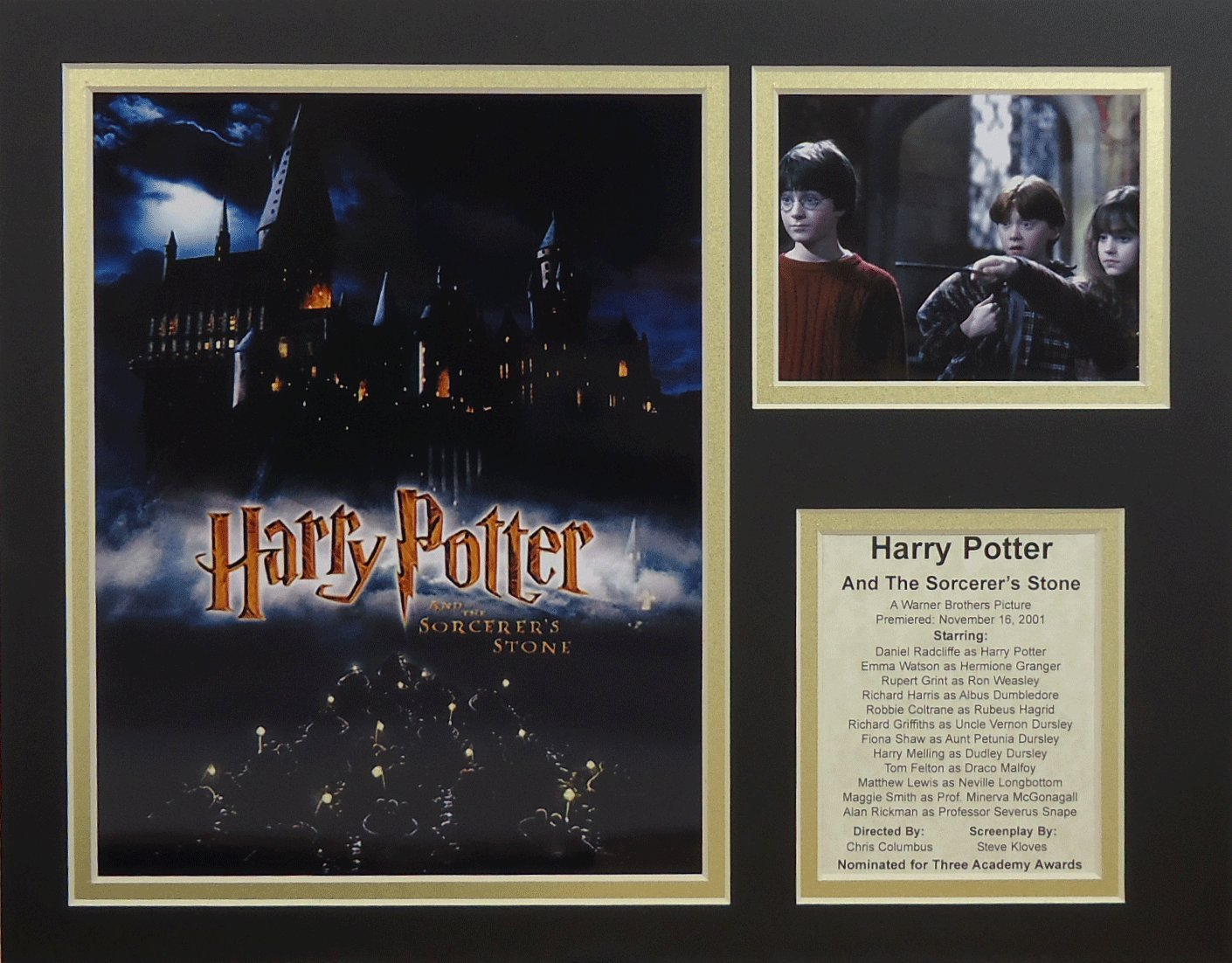 Harry Potter and the Sorcerer's Stone 11'' X 14'' Unframed Matted Photo Collage By Legends Never Die, Inc