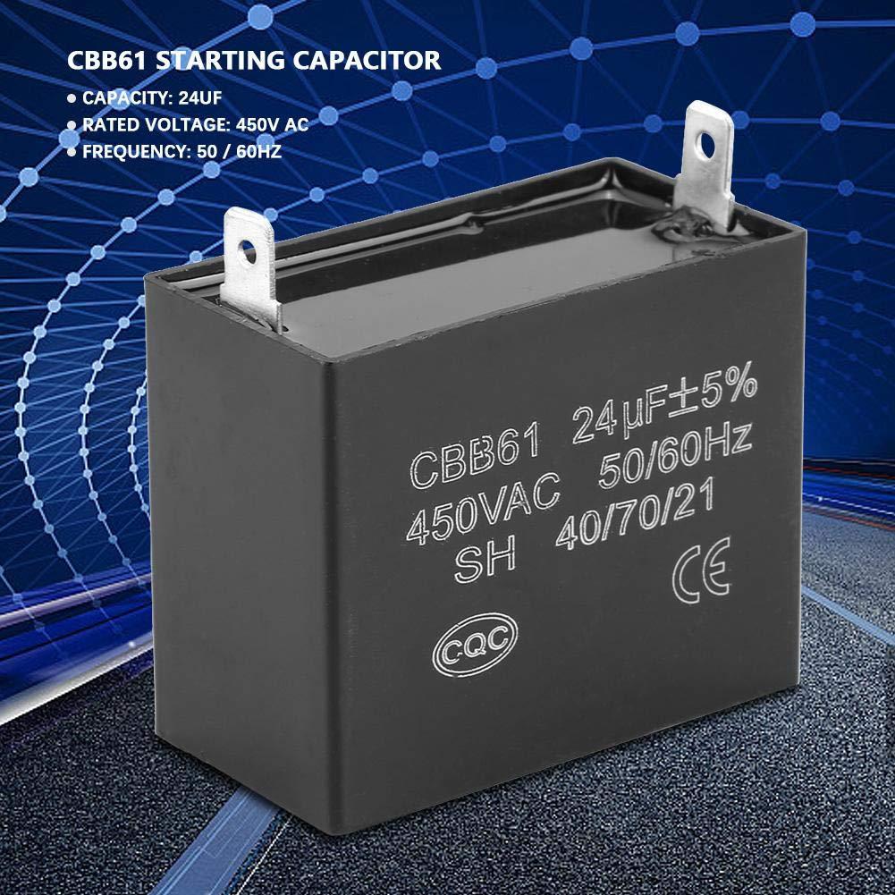 Capacitor, 450V AC 24uF 50 / 60Hz Condensador de Arranque para ...