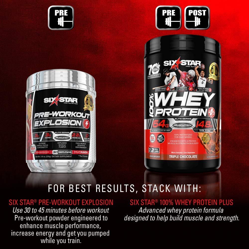 Amazon.com: Six Star Pro Nutrition Creatine X3 Powder, Max-Dosed Creatine  Powder, Micronized Creatine, Creatine HCl, Fruit Punch, 2.52 Pounds: Health  ...