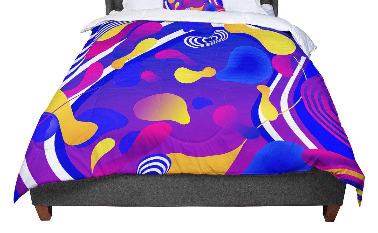 KESS InHouse Danny Ivan 'Bubbles' Blue Purple Twin Comforter, 68' X 88'