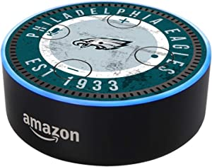 Head Case Designs Officially Licensed NFL Team Colour Distressed Philadelphia Eagles Matte Vinyl Sticker Skin Decal Cover Compatible with Amazon Echo Dot (2nd Gen)