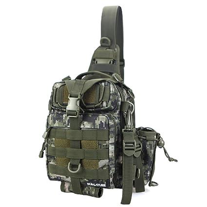 3286f50abec1bc RUNATURE Sling Mochila Molle Tactical Militar de Hombre Mochilas Táctica  Combate Militares Ligera Impermeable Bolsa Tactico Deportiva de Hombro ...