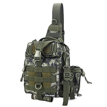 c8543854657e8 RUNATURE Sling Mochila Tactical Militar de Hombre Mochilas Táctica Combate  Militares Ligera Impermeable Bolsa Tactico Deportiva de Hombro Molle Pecho  ...