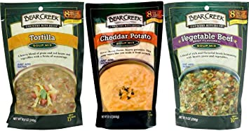 Bear Creek Country Kitchens Soup Mix 3 Flavor Variety Bundle 1 Tortilla