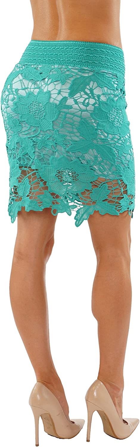 ITZON Woman`s SK40 Lace Pencil Skirts