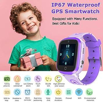 GPS Smartwatch Niños - Reloj Impermeable para Niños con GPS WiFi ...