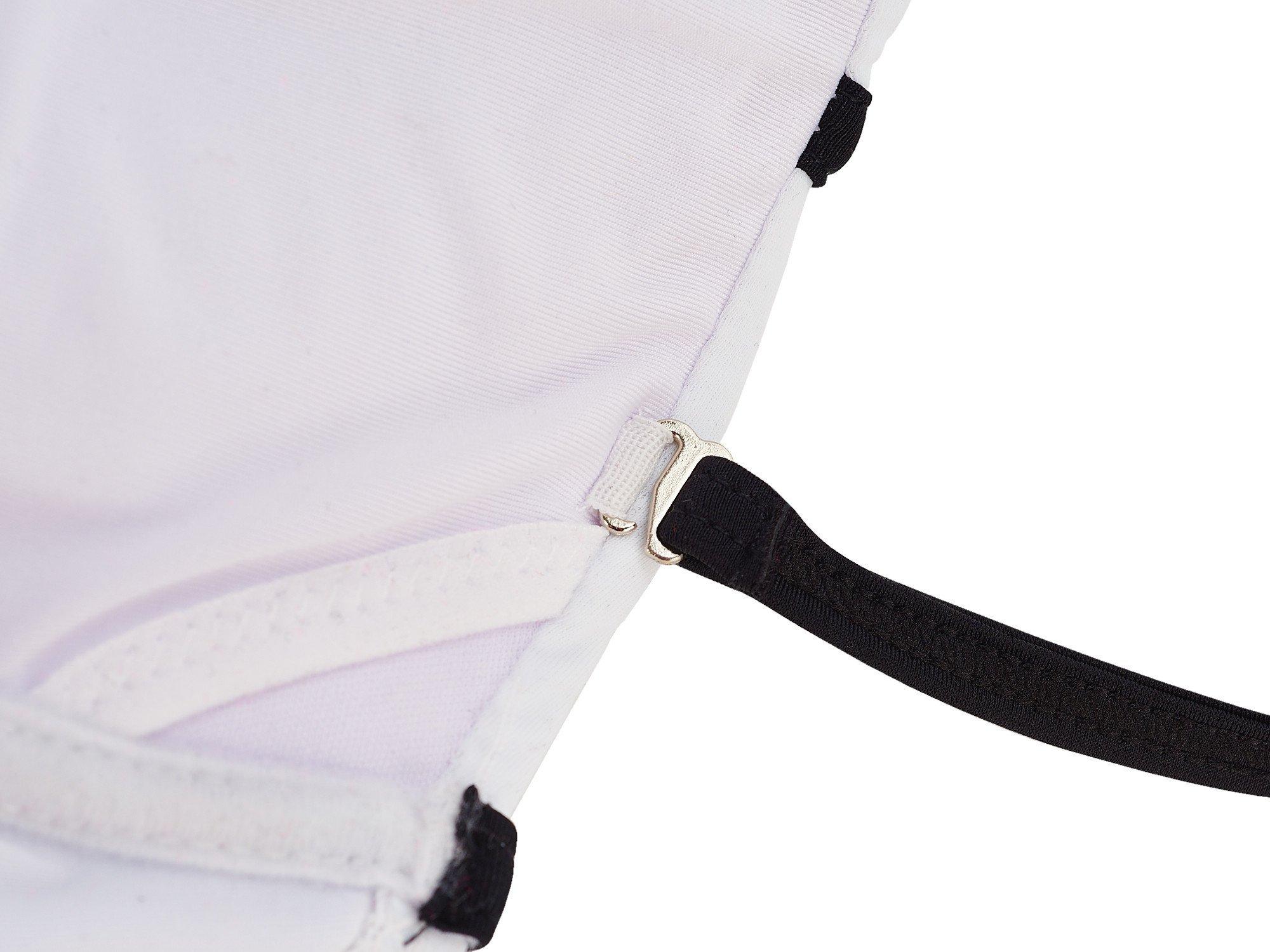 LA PLAGE Women's Colorful High Waist Padded Bathing Suit Size US XX-Large White by LA PLAGE (Image #7)