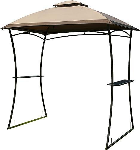 GOJOOASIS Barbecue Grill Gazebo BBQ Shelter Canopy Tent Outdoor Sun Shade Yard Metal Gazebo
