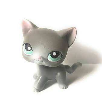 Gato # 126 (gris, ojos azules) - Littlest Pet Shop (retirado ...