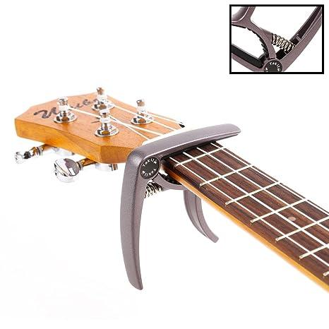 TAKIT Cejilla para Guitarra Acústica y Eléctrica - GARANTÍA DE POR VIDA - Apta para Ukelele