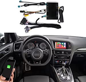 Road Top Wireless Carplay Android Auto Retrofit Kit for Audi A4 A5 S4 S5 RS4 RS5 Q5 2010-2016 with 3GMMI Factory Screen Update, Support Mirrorlink, Siri, Original Control, Camera