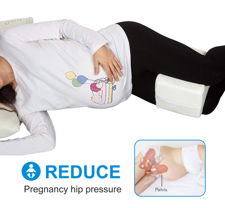 Almohadas para piernas para dormir, Cojín ortopédico para almohada con de memoria para durmientes de lado, Almohada de apoyo para la rodilla para ...