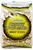 Popvillage's Crunchy Wheat Roller Snack, Wheat Puff Stick Organic Snack, Low Calories, Low Sugar - 4 Pack (32 Rollers…