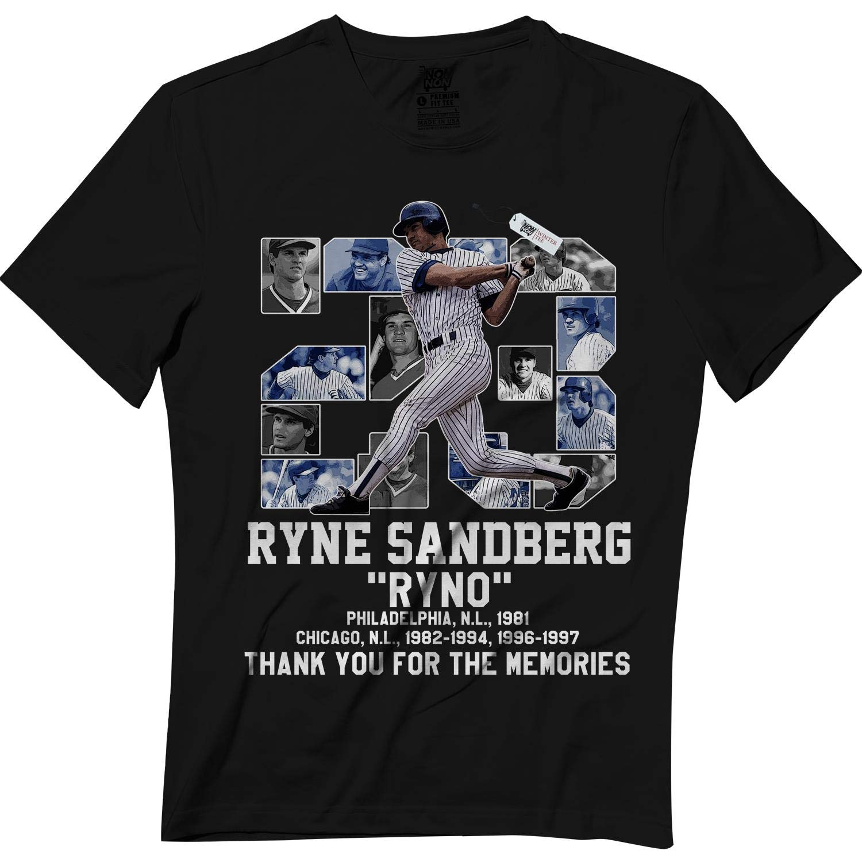 Sandberg 23 Ryne Baseball Player Coach Ryno Big Fans Black Shirts