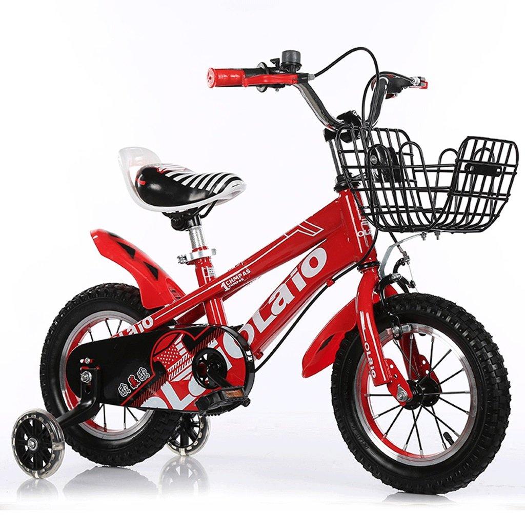 子供の自転車の男の子2-12歳のベビーペダルのベビーカーの自転車の女子学生のマウンテンバイク (色 : 赤, サイズ さいず : 14 inches) B07D57MS3J 14 inches|赤 赤 14 inches