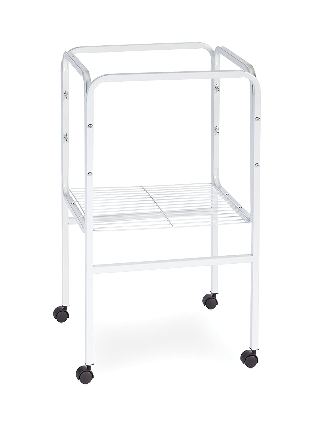 Prevue Pet Products SP445W Bird Cage Stand with Shelf, White Inc.