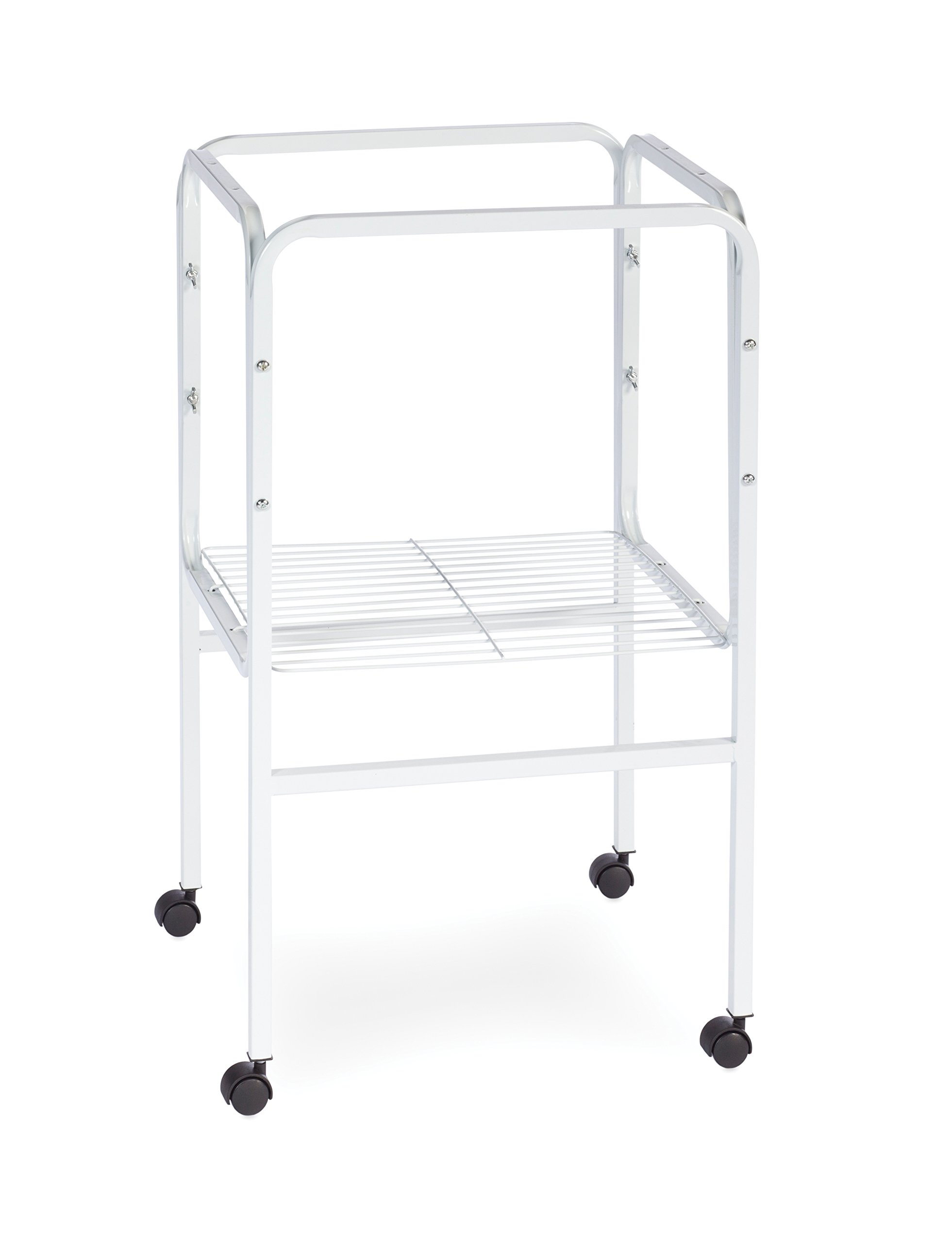 Prevue Pet Products SP445W Bird Cage Stand with Shelf, White by Prevue Pet Products
