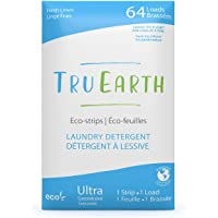 Tru Earth Eco-Strips Laundry Detergent (Fresh Linen Scent, 64 Loads) - Eco-friendly Ultra Concentrated Compostable…