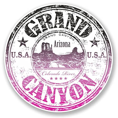2 x Grand Canyon Arizona USA Vinyl Sticker Laptop Travel Luggage #4704
