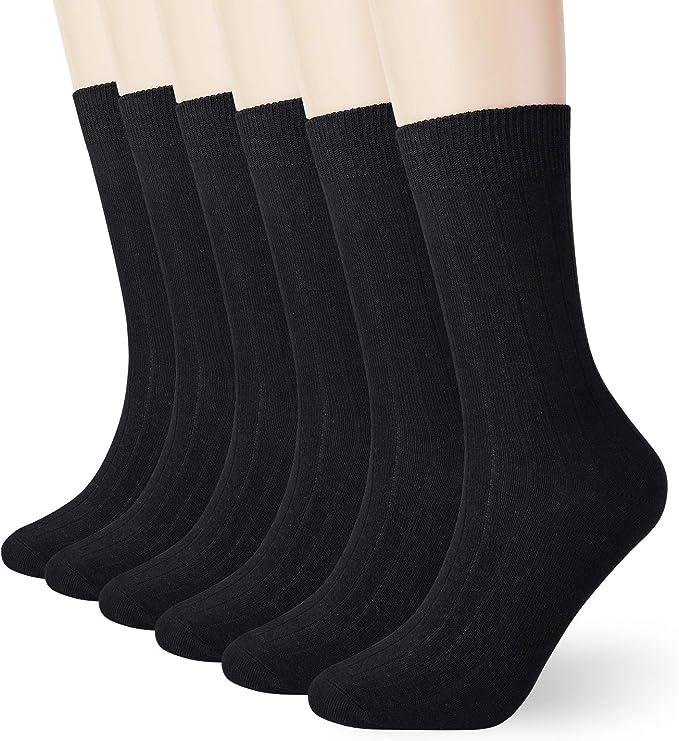 Men's Cotton Crew Socks 6 Pack